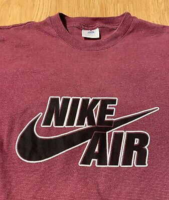 2212a7fff6269 VINTAGE 90S NIKE Air Bootleg Striped T-Shirt Size Men's XL