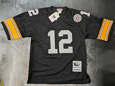 9126af241b8 Mitchell Ness Terry Bradshaw Pittsburgh Steelers #12 NFL Jersey NWT 66% off  $300