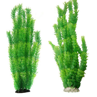 60cm Aquarium Fish Tank Green Plastic Plants Decoration Ornament Tall Plant