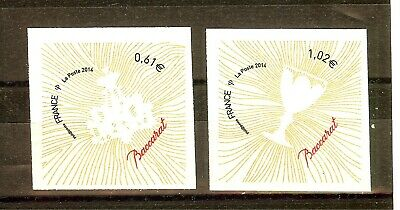 Timbre France Autoadhesif 2014 N° 939 Et 940 Neuf ** Coeur Baccarat