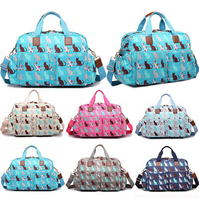 4pcs Cat Print Maternity Baby Diaper Nappy Changing Bag Oilcloth Mummy Bag Set