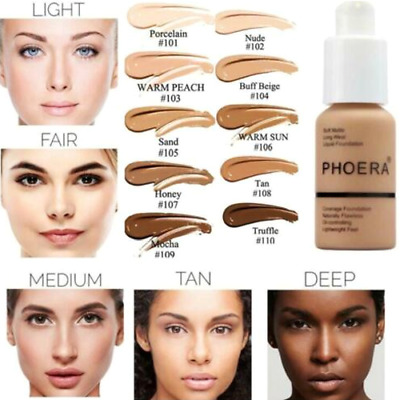 30ml Phoera Perfect Beauty Face Liquid Foundation Base Soft Matte Long Wear Oil