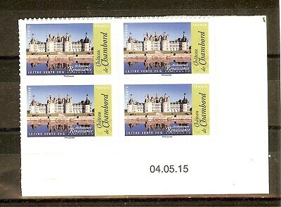 Timbre France Autoadhesif 2015 Coins Date N° 1114A Neuf ** Chateau De Chambord