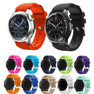 For Samsung Galaxy Watch 46mm Replacement Soft Silicone Sport Wrist Band Strap
