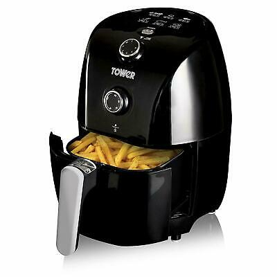 Tower T17025 Compact Air Fryer 1.5L - Black  - Healthy Fryer - mini compact -