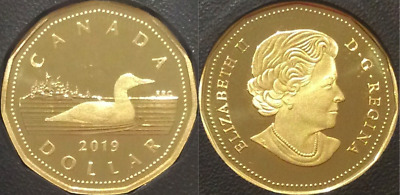 2019 Loon Dollar Loonie Proof $1 Coin Canada from D-Day Set