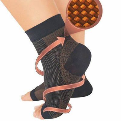 Foot Ankle Sleeve Plantar Fasciitis Compression Sock Anti Sore Achy Swelling NEW
