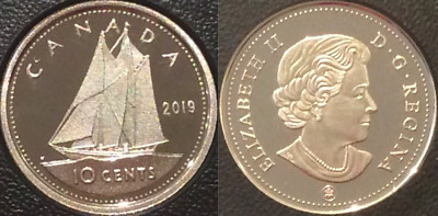 2019 Dime 10-Cent Bluenose Proof Coin Canada Classic from D-Day Set