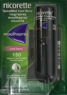 Nicorette QuickMist Cool Berry 1mg/spray Mouthspray - 150 sprays  (Genuine)