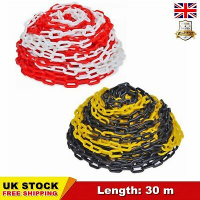 30M Plastic Safety Barrier Visible Warning Chain Link Fence Cord Line Durable UK