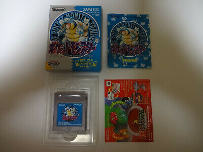 "Nintendo GameBoy Game Software ""Pocket Monsters BLUE"" w/Hagaki Japan import"