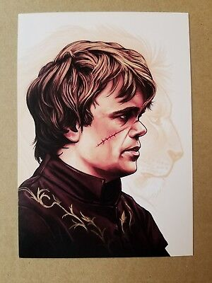 TYRION LANNISTER Print HAND SIGNED by Artist Mike Champion w COA Game Thrones