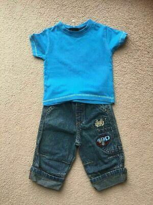 Next Baby Boys Jeans And T-Shirt Outfit Set Age 3-6 Months