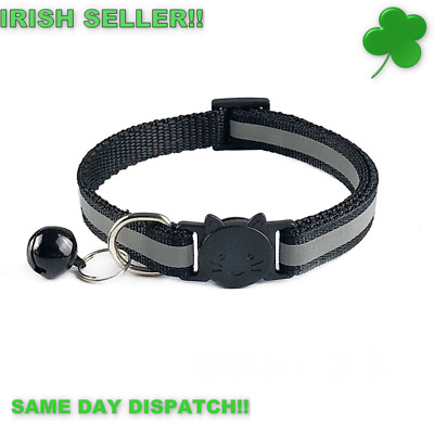 Kitten Cat Breakaway Collar & Tag Reflective Safety Quick Release&Bell