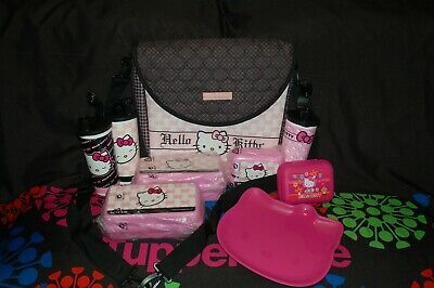 Tupperware 9pc HELLO KITTY lunch set insulated bag/backpack tumbler sandwich LOT