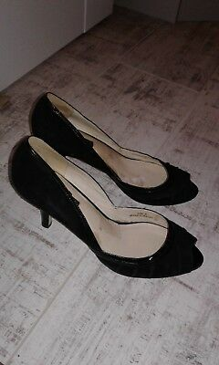 Autograph-M&S ladies heels,leather,worn once (in the house)size 6