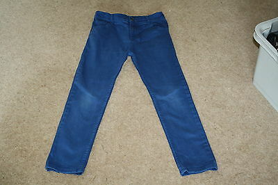 Debenhams Blue Zoo Boys Royal Blue slim /skinny Jeans / Chinos age 10