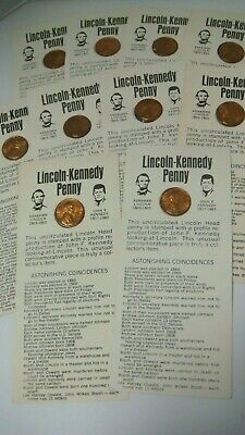 Lot 17 Lincoln Kennedy Profile Cent 1973 Uncirculated Collectors Coin Teachers