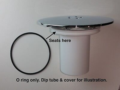 Replacement rubber O ring seal ring for High-Fast Flow, Shower waste/drain.