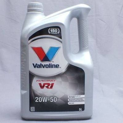 VALVOLINE VR1 RACING 20W50 Highly Refined 20W-50 Mineral