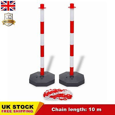 Chain Security Bollards Post Guard Barrier Set Kit with 10 m Chain 2 Posts SALE