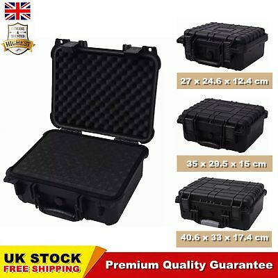 Protective Equipment Case Black Carry Box Tool Camera Bag Removable Foam Inserts