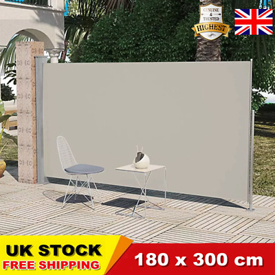 Retractable Side Awning Wall Shade Blind Privacy Screen Patio Terrace Durable UK