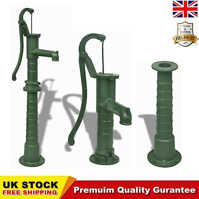 Cast Iron Stand for Garden Hand Water Pump Well Pump Base Stand Green Watering