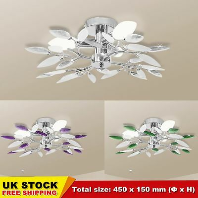 Ceiling Lamp Chandeliers Light with 4 Acrylic Leaf Arms Living Room Lights CHIC