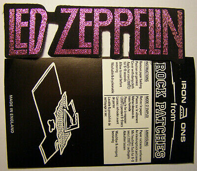 LED ZEPPELIN vintage 1980 s woven iron-on patch