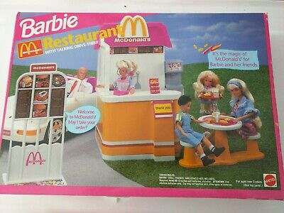 VINTAGE 90S BARBIE MCDONALDS RESTAURANT PLAYSET SERIES TOYS RARE NEW IN BOX!