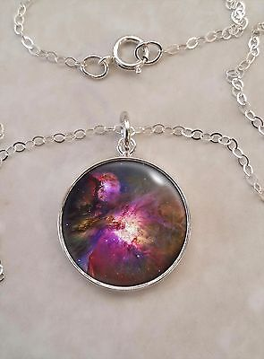 Choose Astronomy Planet Nebula Astrophysics Space  .925 Sterling Silver Necklace
