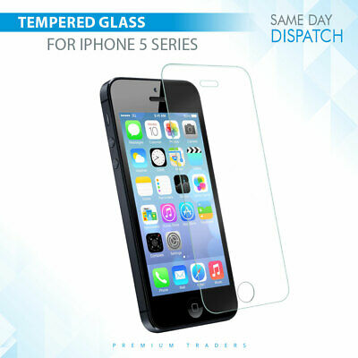 Genuine Premium Gorilla Tempered Glass Screen Protector Apple iPhone 5 SE 5S 5C