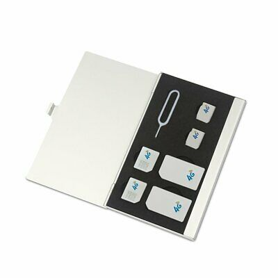 Stainless Steel Single-Layer Double-Layer Sd Card Sim Card Box Storage Box AC