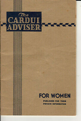 The Cardui  Adviser for Women- Remedies Quack Medicine  Booklet  2nd Ed 1938