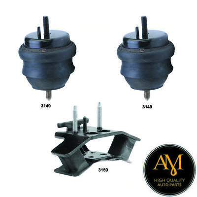 w// AT 3 PCS Motor /& Trans Mount For 2004-2007 Cadillac CTS 3.6L Engine