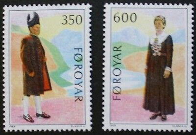 Nordic countries postal co-operation, traditional costumes stamps, 1989, MNH