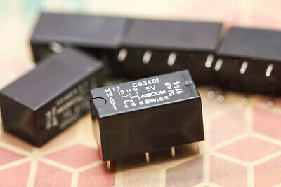 AXICOM MT2 C93401 Relay DPDT 5V DC 2A Non Latching 5 Pieces