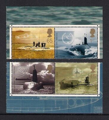 GB 2001 sg2202a-05a Submarines booklet only set MNH