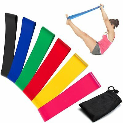 E2Buy Resistance Loop Bands, Set of 6 professional-Grade Fitness Bands for Yoga,