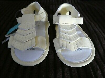 BNWT Monsoon Lemon Yellow Baby Shoes Sandals Age 12 - 18 months 1 -1.5 years