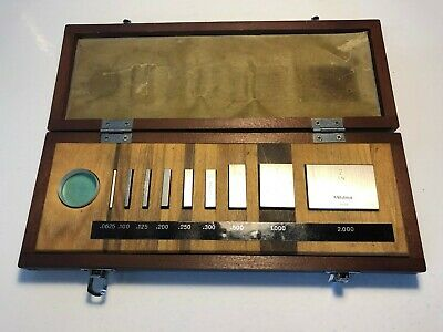 Mitutoyo #516-931 Gage Block Set 9 Pcs Grade 3 - In Great Condition!