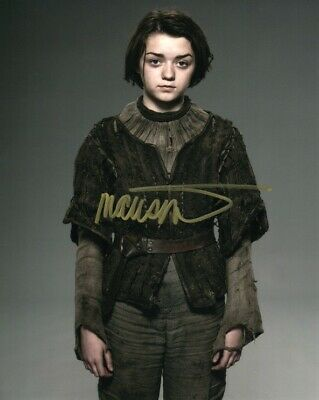 Maisie Williams Game of Thrones signed autographed  8x10 photo L248