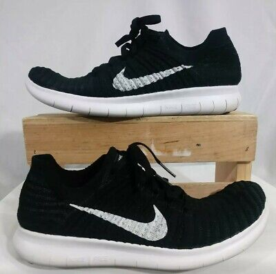 509e052c7dffc Womens Nike Free Rn Flyknit Black White Running Training Workout Gym 831070- 001