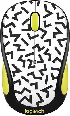 Logitech M325C Party Collection Wireless Optical Mouse Yellow Zigzag