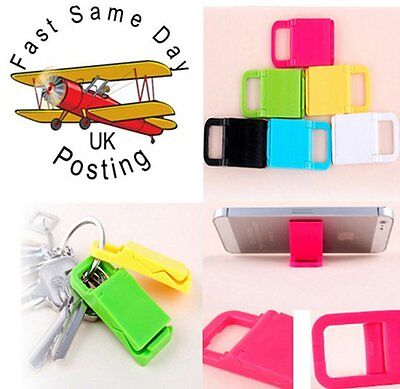 key ring Universal Portable Foldable Mini Phone Stand Holder for Mobile Phone