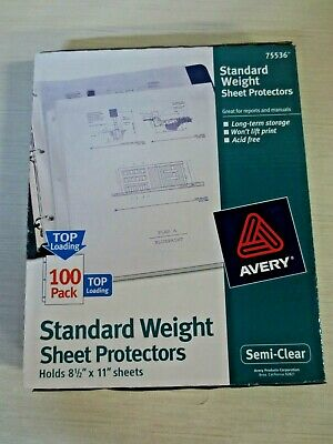 Avery PV119ED Sheet Protectors 75 count acid free clear  top loading reinforced
