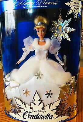 Mattel Disney Holiday Princess Cinderella (1st In Series) Doll RARE EDITION!