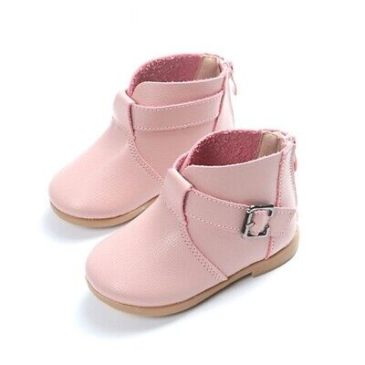 Boots Toddler New Ankle Zip Fashion Kid Round For Children Shoes Girls Leather