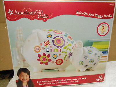 American Girl decorate Piggy Banks arts and Caft set